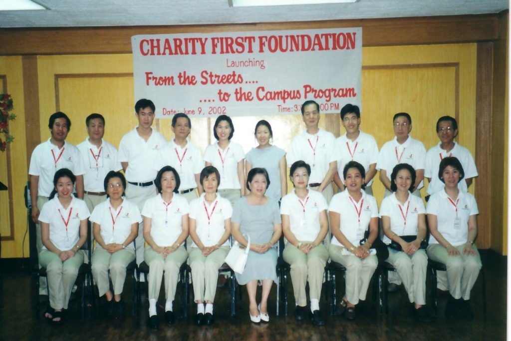 "Launching of the Education Program in 2002. The Education Program was called ""From the Streets to the Campus Program""."